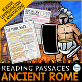 Ancient Rome Reading Passages - Questions - Annotations