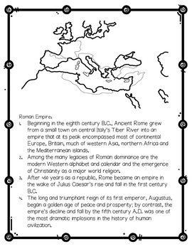 Ancient Rome Research Packet for Elementary Students