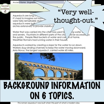 Ancient Rome Engineering Station Activities and gallery walk RECENTLY UPDATED