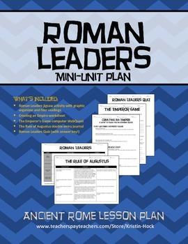 Ancient Rome - Roman Leaders Mini-Unit