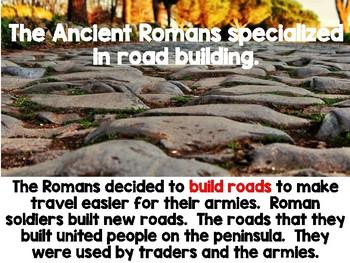 Ancient Rome Slide Show and Materials Bundle VA SOL Aligned
