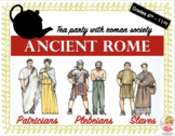 Ancient Rome Social Classes Tea Party