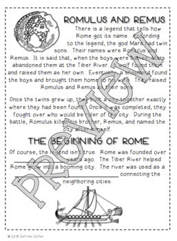 Ancient Rome - Social Studies Interactive Notebook