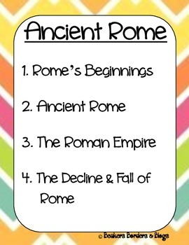 Ancient Rome Socratic Seminar Lesson Plan Pack
