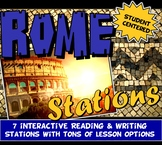 Ancient Rome Stations with Key Questions Graphic Organizer: Distance Learning
