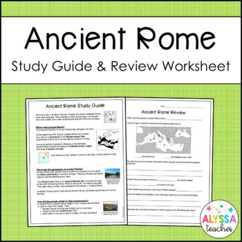 Ancient Rome Study Guide and Review Worksheet