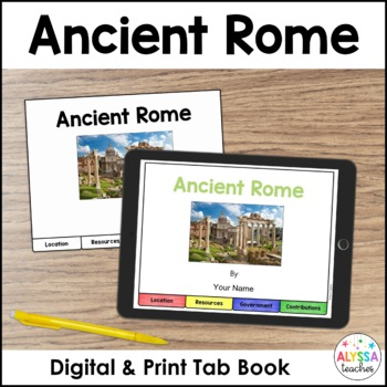 Ancient Rome Tab Book (Includes Digital Version)