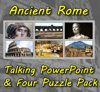 Ancient Rome Talking PowerPoint & Four Puzzle Pack