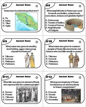 Ancient Rome Task Cards