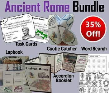 Ancient Rome Task Cards and Activities Bundle
