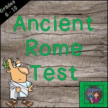 Ancient Rome Test {Editable!}