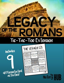 Ancient Rome - The Legacy of Rome tic-tac-toe activity