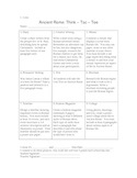 Ancient Rome Think-Tac-Toe Differentiated Project