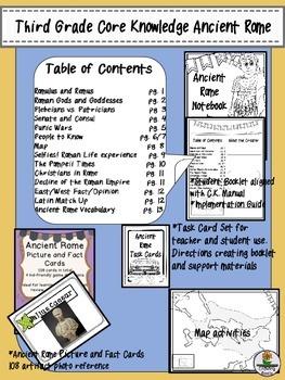 Ancient Rome Third Grade Core Knowledge Complete Unit!