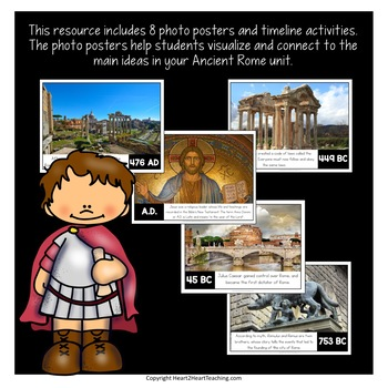 Ancient Rome Timeline Kit with Posters & Activities