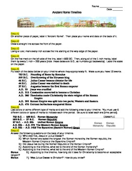ancient rome timeline worksheet no prep by erin keith tpt. Black Bedroom Furniture Sets. Home Design Ideas