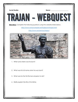 Ancient Rome - Trajan - Webquest with Key