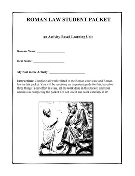 Ancient Rome: Twelve Tables of Roman Law Using Classroom as Courtroom