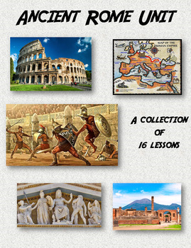 Ancient Rome Unit - Bundle of 16 Lessons