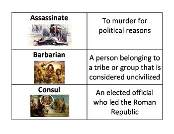 Ancient Rome Unit Flashcards