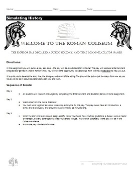 Ancient Rome Unit Plan (Complete Lesson Plans)