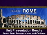 Ancient Rome Unit Presentation Bundle - Three PowerPoints