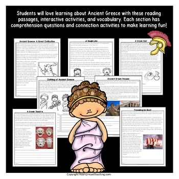Ancient Greece Activities: A Complete Unit Athens, Sparta, Democracy & Olympics