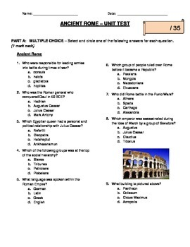 Ancient Rome Unit Test
