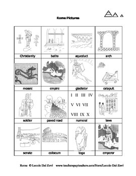 Ancient Rome Unit in Pictures for Special Ed., ELL and ESL Students