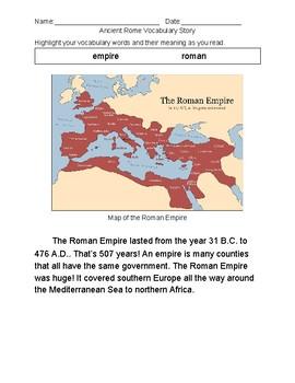 Ancient Rome Vocab Story