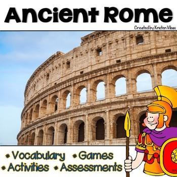 Ancient Rome By Kristen Vibas Teachers Pay Teachers