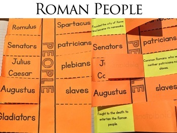 Ancient Rome Vocabulary Interactive Notebook Pages