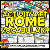 Ancient Rome Interactive Vocabulary Activity Set Google Ready