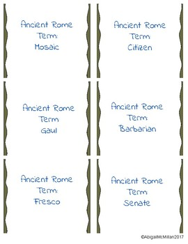 Ancient Rome Vocabulary Speed Dating
