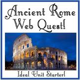 Ancient Rome Web Quest
