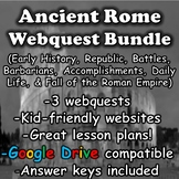 Ancient Rome Webquest Bundle (Roman Empire)