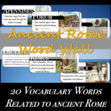Ancient Rome Word Wall - With & Without Defintions!