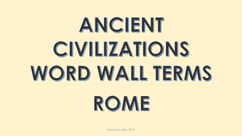 Ancient Rome Word Wall Cards
