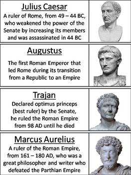 Ancient Rome Word Wall Cards (Roman Empire Unit)