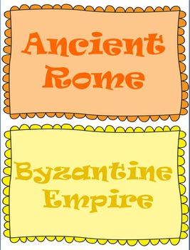 Ancient Rome Word Wall Set