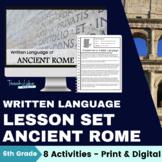 Ancient Rome Written Language Lesson
