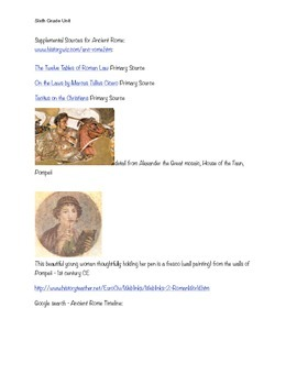 Ancient Rome and Ancient Greece Unit