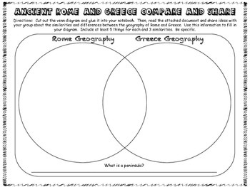 Ancient Rome and Greece - Geography Comparison