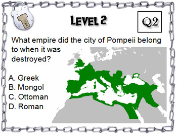 Ancient Rome and the City of Pompeii: Escape Room - Social Studies