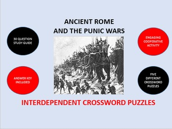Ancient Rome and the Punic Wars: Interdependent Crossword Puzzles Activity