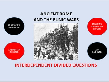 Ancient Rome and the Punic Wars: Interdependent Divided Questions Activity