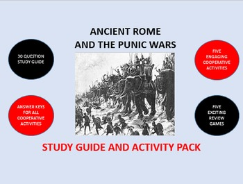 Ancient Rome and the Punic Wars: Study Guide and Activity Pack