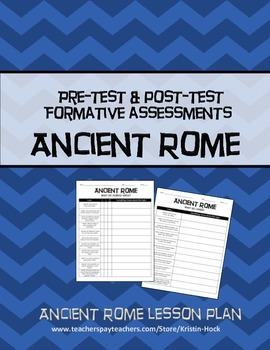 Ancient Rome - formative assessment lesson plan