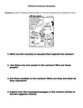 Ancient Rome: political cartoon analysis worksheet