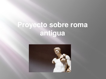 Ancient Rome project